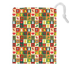 Pattern Christmas Patterns Drawstring Pouches (xxl)