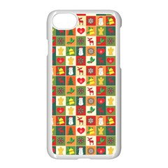 Pattern Christmas Patterns Apple Iphone 7 Seamless Case (white)