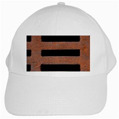 Stainless Rust Texture Background White Cap