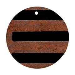 Stainless Rust Texture Background Ornament (round)