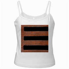Stainless Rust Texture Background White Spaghetti Tank
