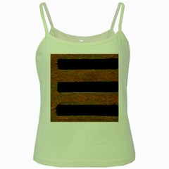 Stainless Rust Texture Background Green Spaghetti Tank