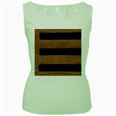 Stainless Rust Texture Background Women s Green Tank Top
