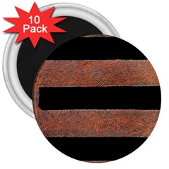 Stainless Rust Texture Background 3  Magnets (10 pack)