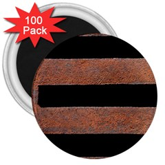 Stainless Rust Texture Background 3  Magnets (100 Pack)