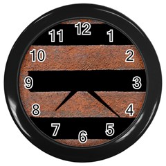 Stainless Rust Texture Background Wall Clocks (Black)