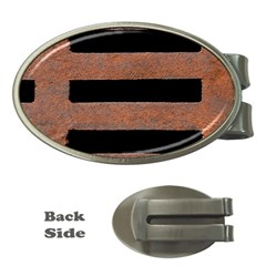 Stainless Rust Texture Background Money Clips (oval)