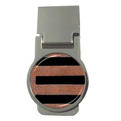 Stainless Rust Texture Background Money Clips (round)