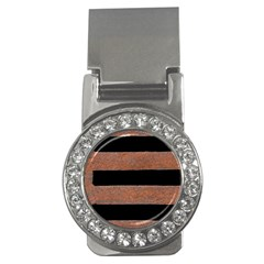 Stainless Rust Texture Background Money Clips (cz)