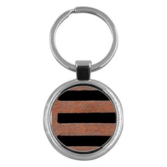Stainless Rust Texture Background Key Chains (Round)