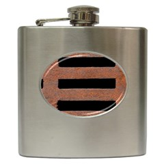 Stainless Rust Texture Background Hip Flask (6 Oz)