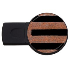 Stainless Rust Texture Background USB Flash Drive Round (2 GB)
