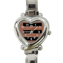 Stainless Rust Texture Background Heart Italian Charm Watch