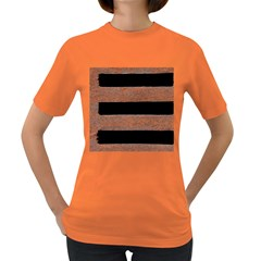 Stainless Rust Texture Background Women s Dark T Shirt