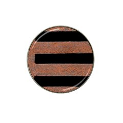 Stainless Rust Texture Background Hat Clip Ball Marker (4 pack)
