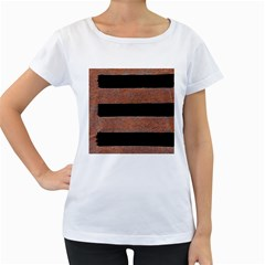 Stainless Rust Texture Background Women s Loose Fit T Shirt (white)