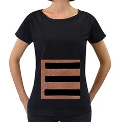 Stainless Rust Texture Background Women s Loose Fit T Shirt (black)