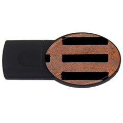 Stainless Rust Texture Background Usb Flash Drive Oval (4 Gb)