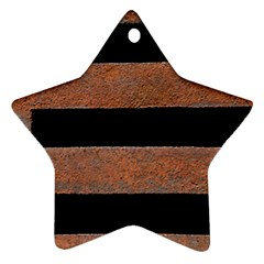 Stainless Rust Texture Background Star Ornament (two Sides)