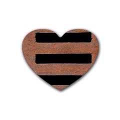 Stainless Rust Texture Background Heart Coaster (4 Pack)