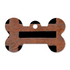 Stainless Rust Texture Background Dog Tag Bone (one Side)