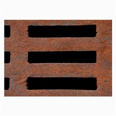 Stainless Rust Texture Background Large Glasses Cloth