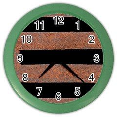Stainless Rust Texture Background Color Wall Clocks