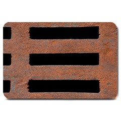 Stainless Rust Texture Background Large Doormat