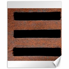 Stainless Rust Texture Background Canvas 11  X 14