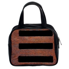 Stainless Rust Texture Background Classic Handbags (2 Sides)