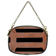 Stainless Rust Texture Background Chain Purses (one Side)
