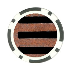 Stainless Rust Texture Background Poker Chip Card Guards (10 Pack)