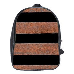 Stainless Rust Texture Background School Bags(large)