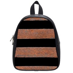 Stainless Rust Texture Background School Bags (small)