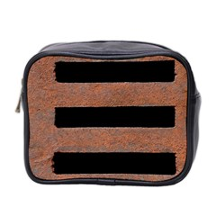 Stainless Rust Texture Background Mini Toiletries Bag 2 Side