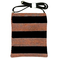 Stainless Rust Texture Background Shoulder Sling Bags