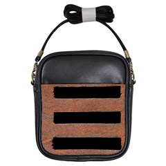 Stainless Rust Texture Background Girls Sling Bags