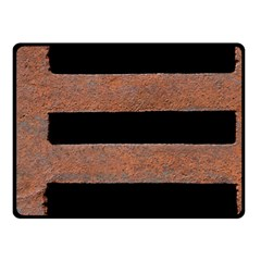 Stainless Rust Texture Background Fleece Blanket (small)