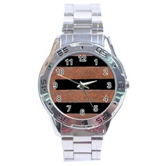 Stainless Rust Texture Background Stainless Steel Analogue Watch