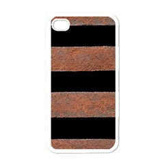 Stainless Rust Texture Background Apple Iphone 4 Case (white)