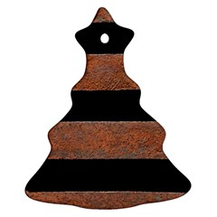 Stainless Rust Texture Background Christmas Tree Ornament (2 Sides)
