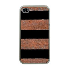 Stainless Rust Texture Background Apple Iphone 4 Case (clear)