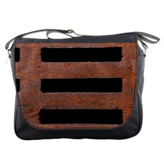 Stainless Rust Texture Background Messenger Bags