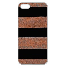 Stainless Rust Texture Background Apple Seamless Iphone 5 Case (clear)