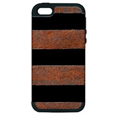 Stainless Rust Texture Background Apple Iphone 5 Hardshell Case (pc+silicone)