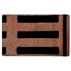 Stainless Rust Texture Background Apple Ipad 2 Flip Case
