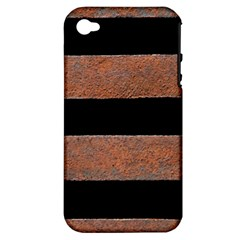 Stainless Rust Texture Background Apple Iphone 4/4s Hardshell Case (pc+silicone)