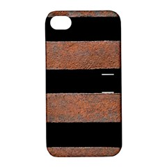 Stainless Rust Texture Background Apple Iphone 4/4s Hardshell Case With Stand