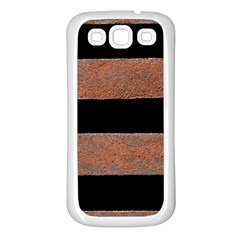 Stainless Rust Texture Background Samsung Galaxy S3 Back Case (White)