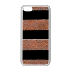 Stainless Rust Texture Background Apple iPhone 5C Seamless Case (White)